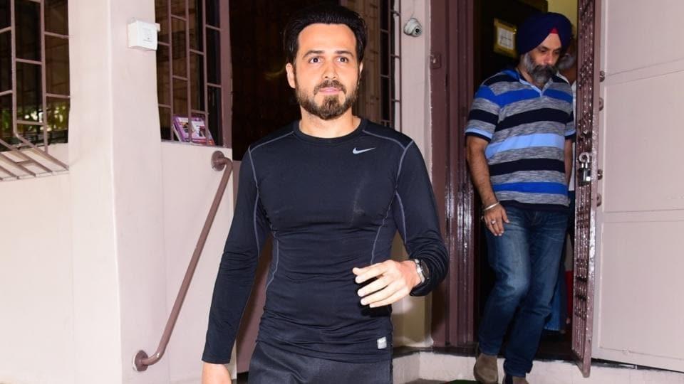 Actor Emraan Hashmi spotted in Bandra in Mumbai.