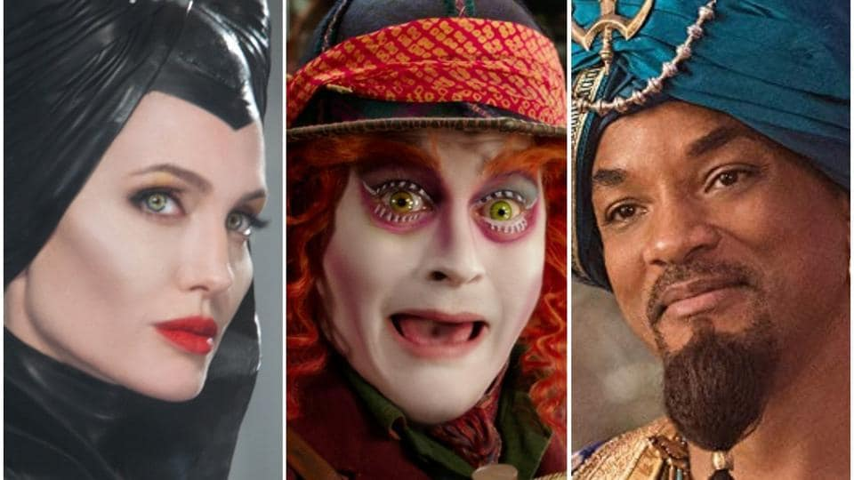 Angelina Jolie as Maleficent, Johnny Depp as the Mad Hatter and Will Smith as Genie.