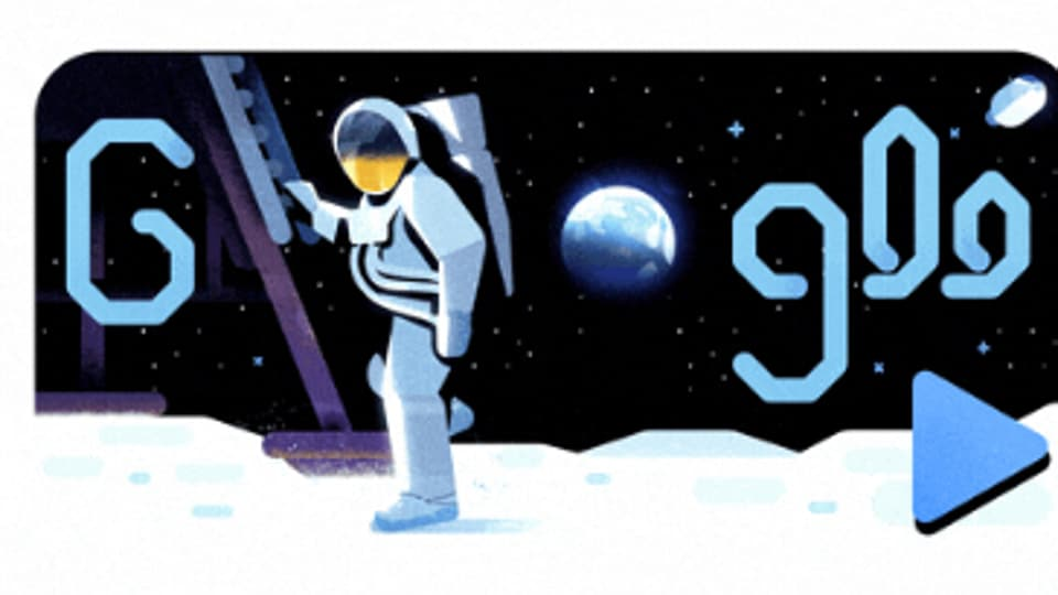 Google on Friday marked the 50th anniversary of man setting foot on moon with a doodle.