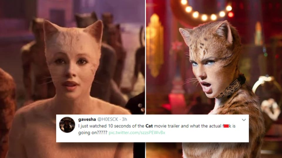 Cats trailer has dropped and Twitter has never seen anything