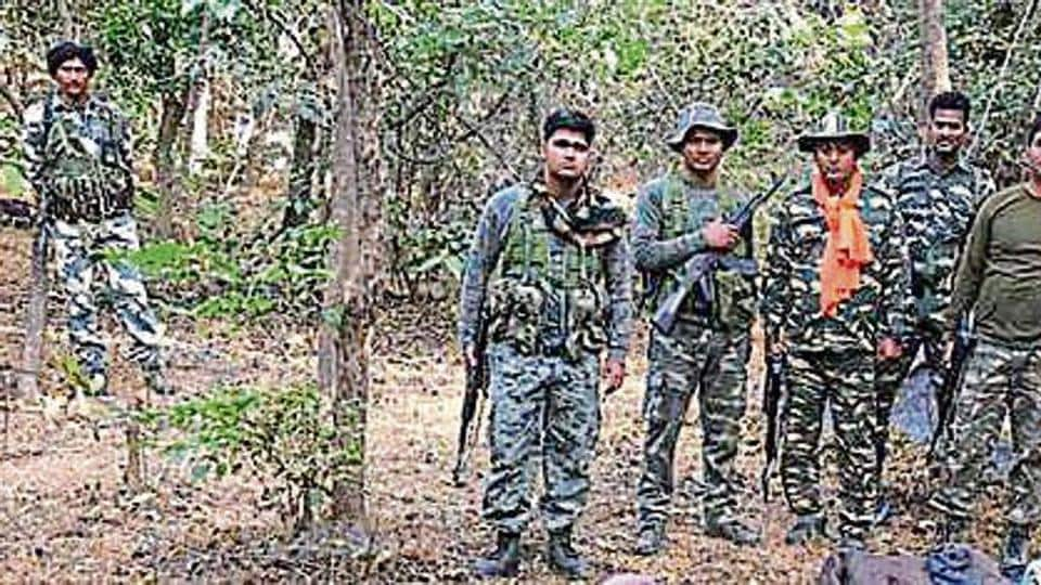 A search operation in forests near Palamu.