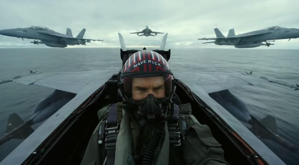 Tom Cruise as Pete Maverick Mitchell in a still from Top Gun: Maverick trailer.