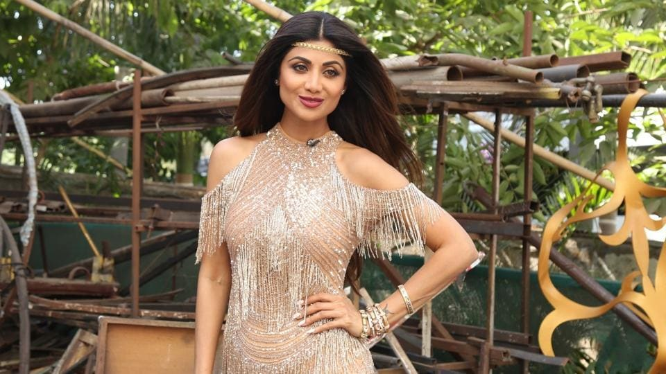 Shilpa Shetty on the sets of dance reality show Super Dancer 3, in Mumbai, on May 13, 2019.