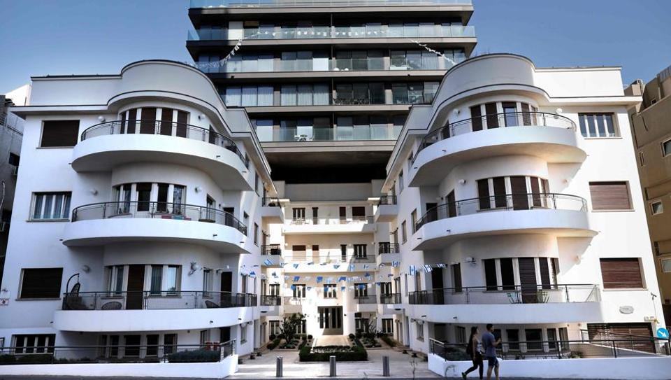The Reisfeld House, built in 1935 by architect Pinchas Bijonsky. The house was built according to the international style Bauhaus which was very widespread in Tel Aviv at that time. Today, Tel Aviv is a leading repository of the modernist style that celebrates its 100th year in 2019. Bauhaus and its variations are prominent among the 4,000 buildings which make up what is known as Tel Aviv's White City, a UNESCO World Heritage site. (Thomas Coex / AFP)