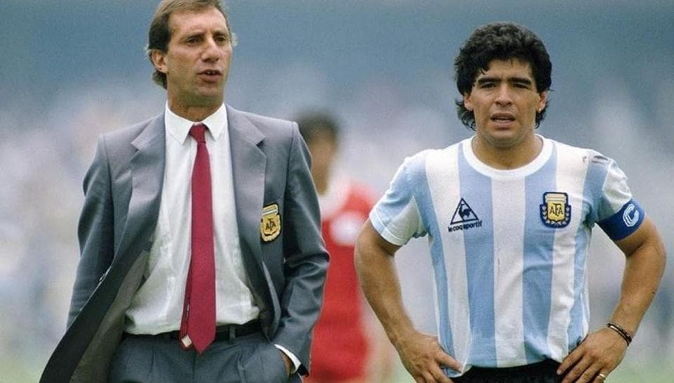 File photo of Carlos Bilardo and Maradona