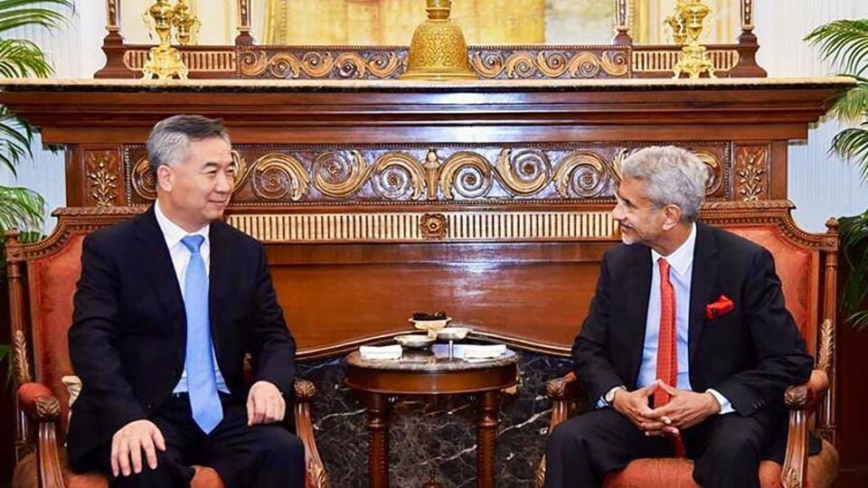 External affairs minister S Jaishankar with Li Xi, political bureau member, CPC Central Committee of China in Delhi, last month.