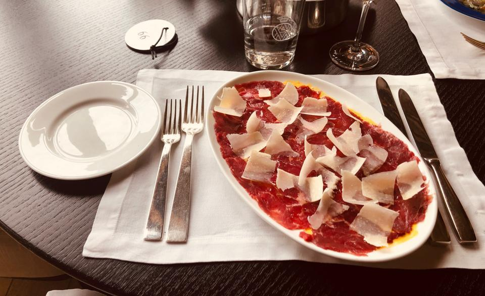 Carpaccio was named after Renaissance artist Vittore Carpaccio known for his brilliant reds