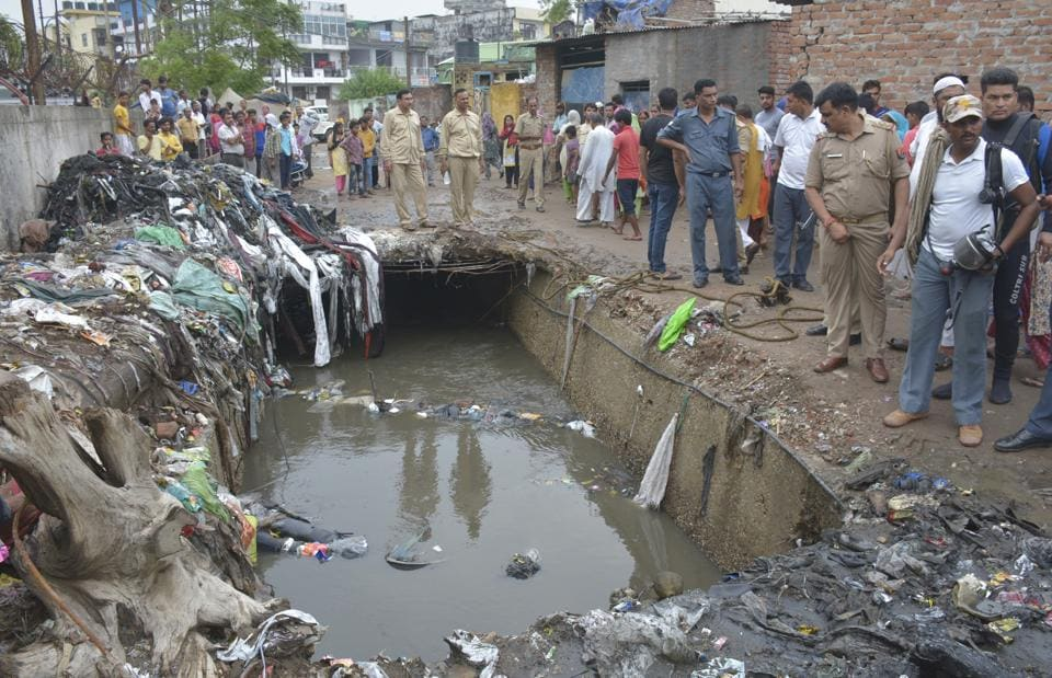 A 15 year old boy died after he fell while riding a bicycle into a drain whose slabs had been removed by the municipal corporation for annual cleaning Sarvodaya Colony near Vijay Nagar in Ghaziabad on Saturday, July 20.