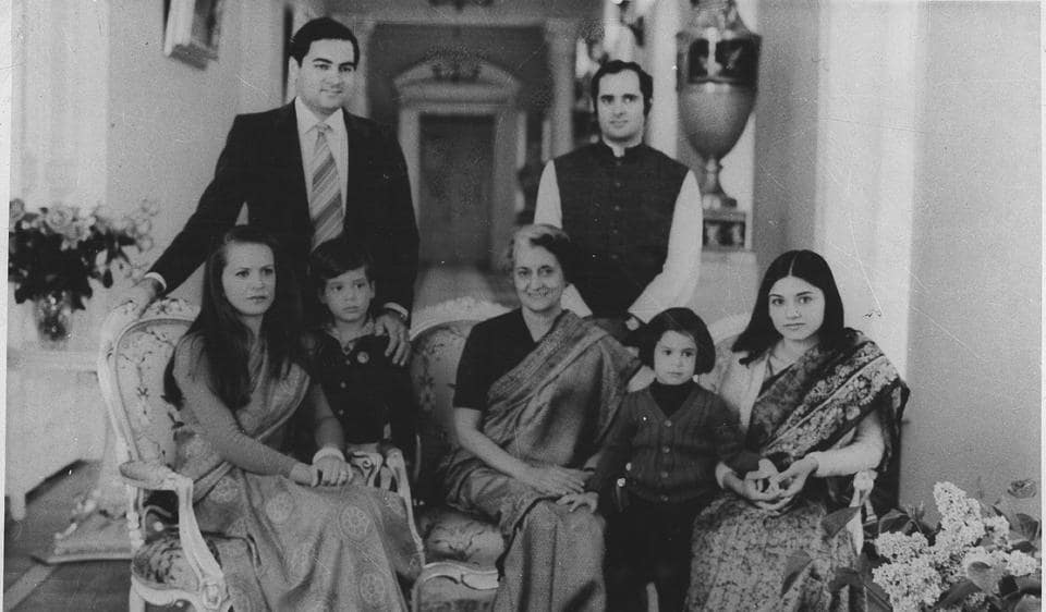 Indira Gandhi with other members of the Nehru-Gandhi family.  Is the logic of family predominance in politics and business the same? If not, what defines the difference?