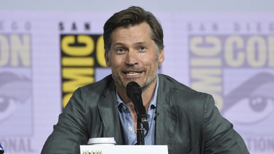Nikolaj Coster-Waldau participates at the Game of Thrones panel on day two of Comic-Con International on Friday.