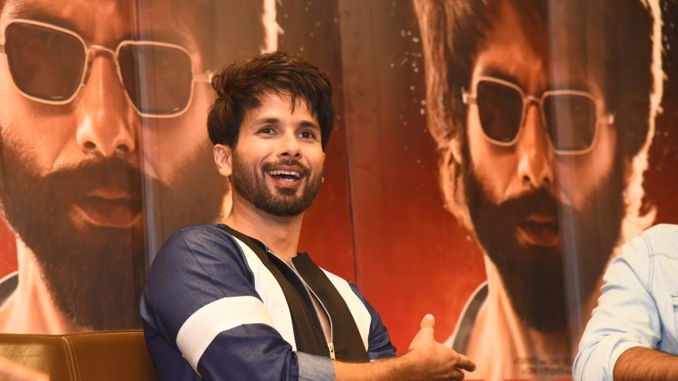 Actor Shahid Kapoor at a press meet to for Kabir Singh, in New Delhi.