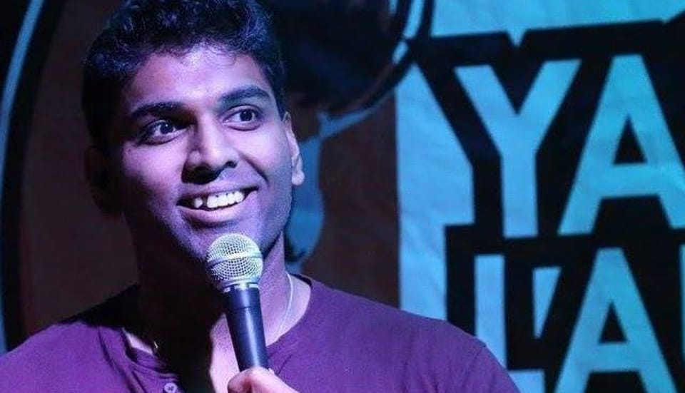 Manjunath Naidu complained of high level of anxiety, sat down on the bench next to him and collapsed onto the floor, with audience thinking that it must be a part of the show