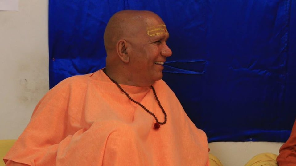 Swami Harish Chander Puri (seen in the picture) was beaten so badly, he had to be rushed to the hospital.
