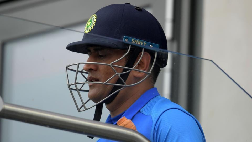 Afile photo of MSDhoni during the ICCWorld Cup 2019.