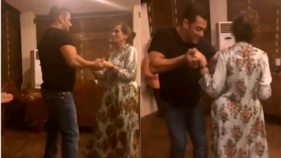 Salman Khan and his mother Salma dance to Sia's Cheap Thrills.