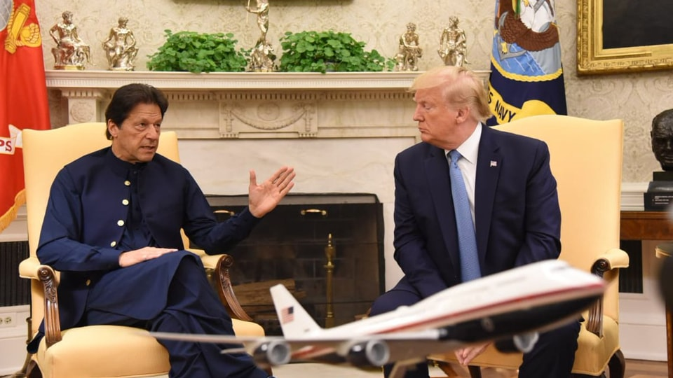 Visiting Pakistan Prime Minister Imran Khan with Donald Trump. (Photo@pid_gov)