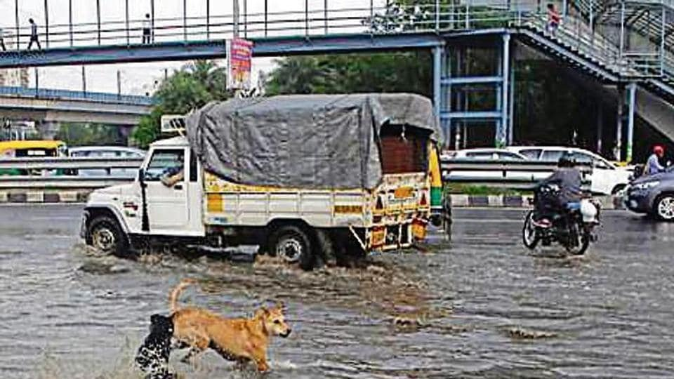 The MG Road underpass was inundated, rendering it unusable for more than an hour, even as officials said automatic pumps had cleared the roads soon.