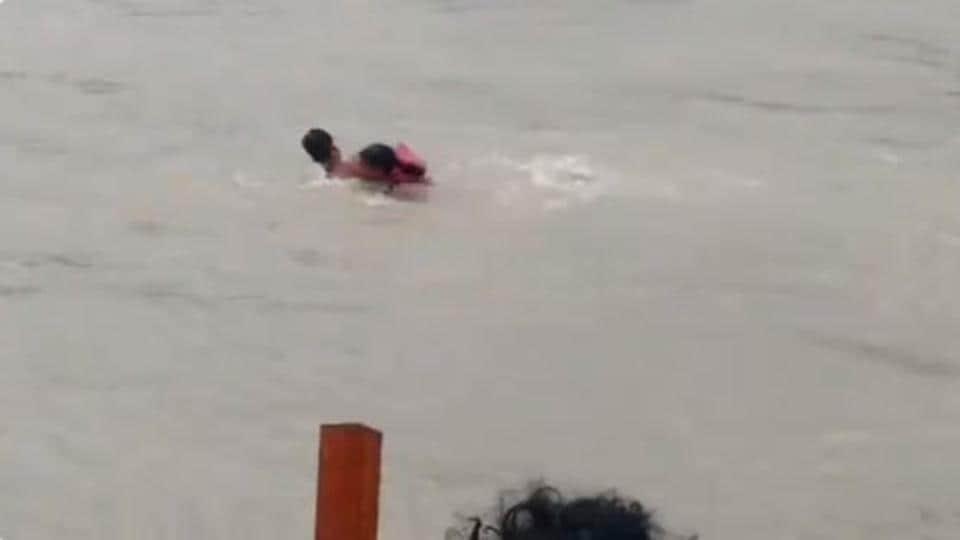 Haryana resident Vishal slipped while at Kangra Ghat in Haridwar.
