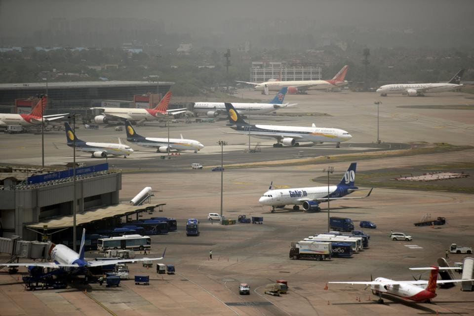 The Delhi International Airport Ltd (DIAL), which manages the Capital's airport, has written to the ministry of civil aviation, saying it was one of the cheapest to land among the top 50 global airports last year. DIAL's chief executive officer Videh Kumar Jaipuriar's letter to the secretary of the ministry of civil aviation is based on a recent study on aeronautical charges conducted by UK-based consultant Leigh Fisher. (Amal KS / HT File)