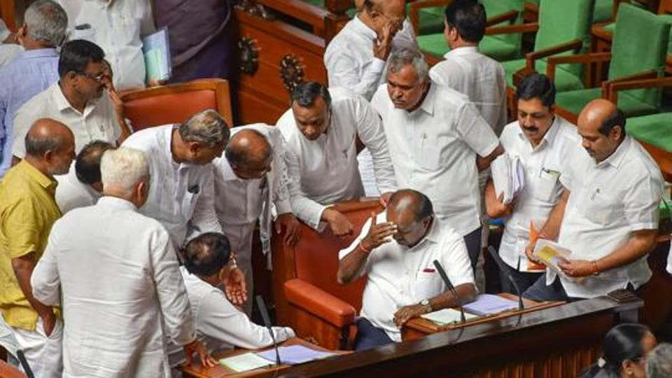 Karnataka's beleaguered coalition government faces trust vote in the assembly on Monday after missing two previous deadlines set by the governor last week