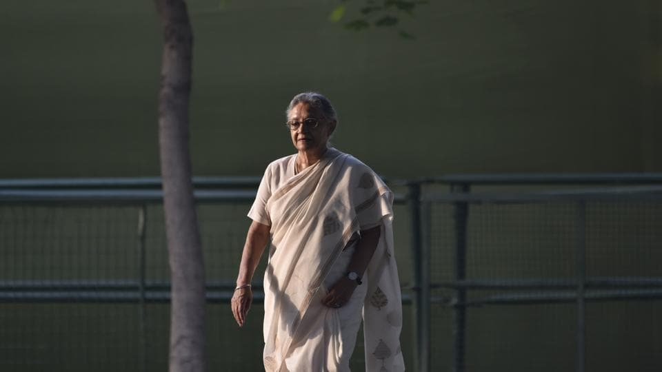 """The longest serving Chief Minister of Delhi, Sheila Dikshit breathed her last on Saturday. Often termed an """"outsider"""" by her own party persons, Dikshit turned her lack of a political background to her advantage and kept a neutral image while leading the party to victory for three consecutive terms in the national capital. (Vipin Kumar / HTArchive)"""