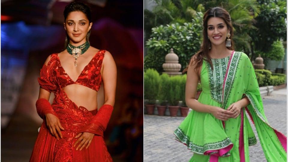 Kiara Advani at India Couture Week and Kiara Advani at Arjun Patiala promotions.