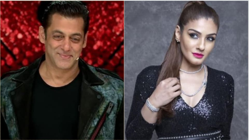 Salman Khan is a producer on Nach Baliye 9 while Raveena Tandon in a judge on the show.