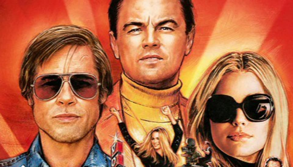 Once Upon a Time in Hollywood stars Brad Pitt, Leonardo DiCaprio and Margot Robbie.