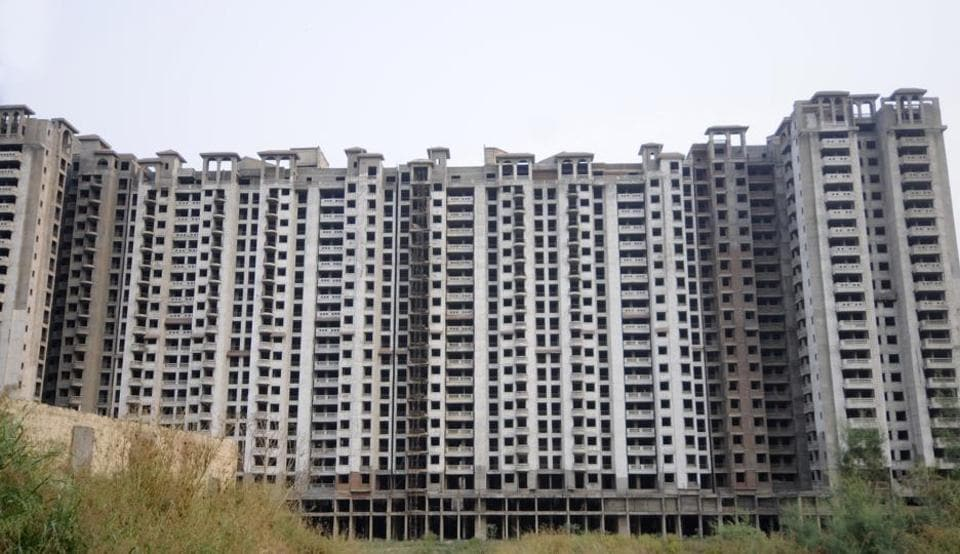 An unfinished residential project of Amrapali at Sector 76 in Noida