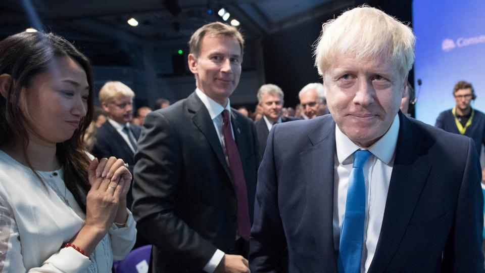 Boris Johnson looks on after he was announced as the new Conservative party leader, and will become the next Prime Minister, at the Queen Elizabeth II Centre in London, Britain July 23, 2019. Stefan Rousseau/Pool via REUTERS