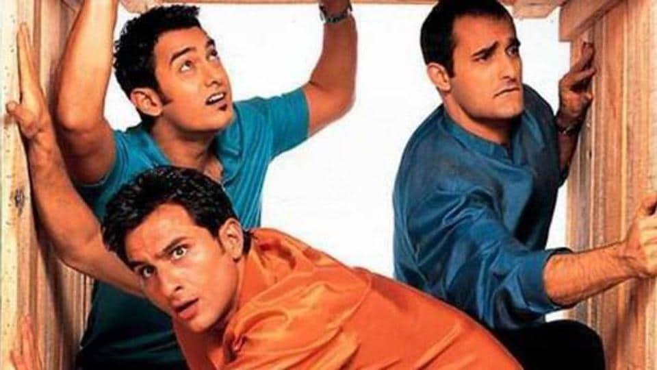 Dil Chahta Hai starring Aamir Khan, Akshaye Khanna, Saif AliKhan, Preity Zinta,Dimple Kapadia and Sonali Kulkarni in lead roles.