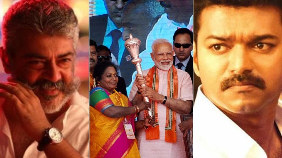 BJP has been involved in duels with young actors of the Tamil film industry Vijay and Ajith as well as versatile actor and Makkal Needhi Maiam (MNM) founder Kamal Hassan.