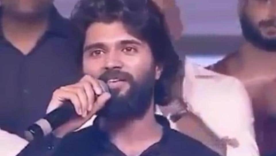 Vijay Deverakonda was speaking at a promotional event for Dear Comrade when he was hit by a fan.