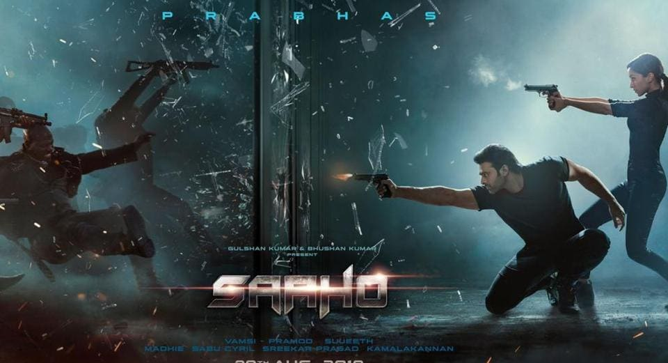 The new Saaho poster shows Prabhas and Shraddha Kapoor firing at a group of attackers.