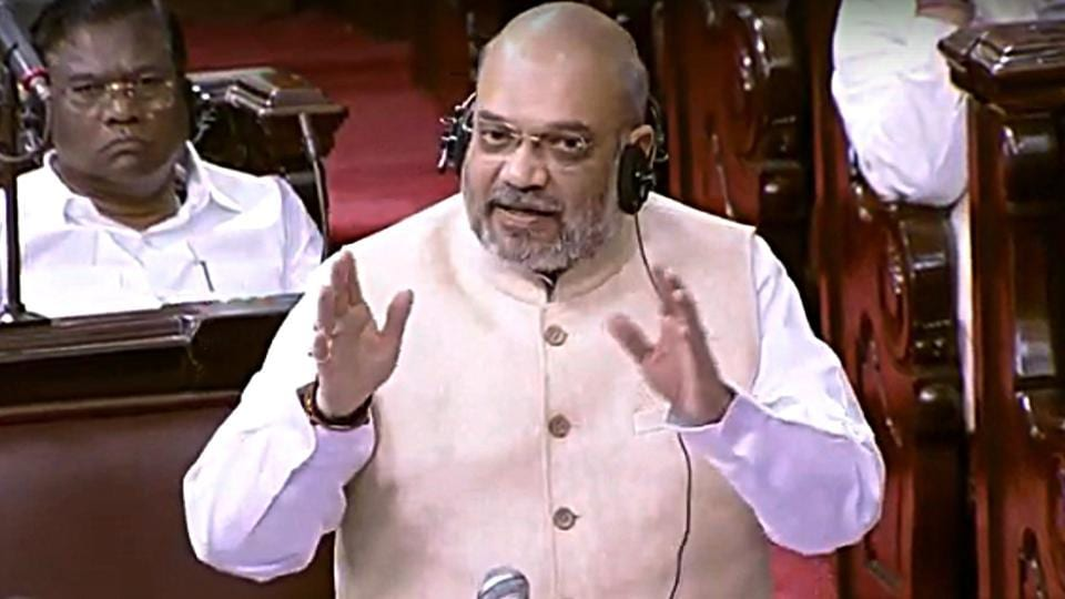 Amit Shah said the Unlawful Activities (Prevention) Amendment Bill 2019 was necessary in the war against terrorism, but his assurances could not pacify the Congress and West Bengal's ruling Trinamool Congress . (ANI Photo)