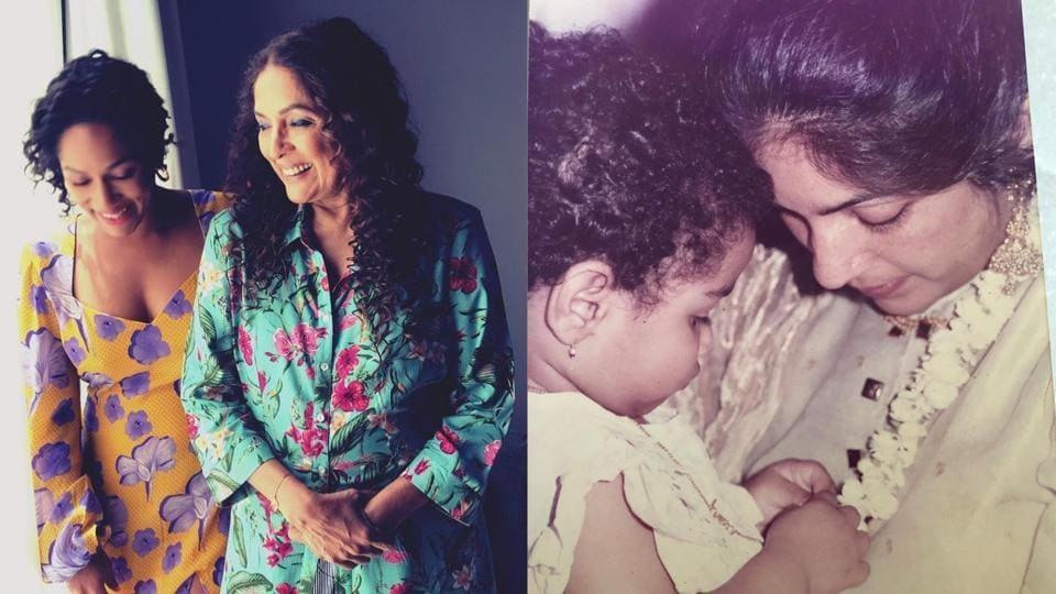 Neena Gupta with daughter Masaba now and then.
