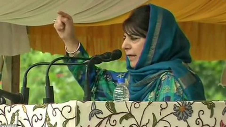 Mehbooba's comments come after a central government order allowed additional 100 companies of the Central Armed Police Forces (CAPFs) to be deployed in Jammu and Kashmir to reinforce counter-insurgency operations and maintain law and order. (ANI Photo)