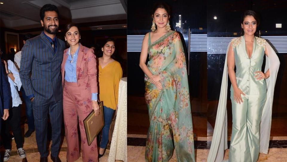Vicky Kaushal, Taapsee Pannu, Anushka Sharma and Kajol at NBT Utsav on Saturday.