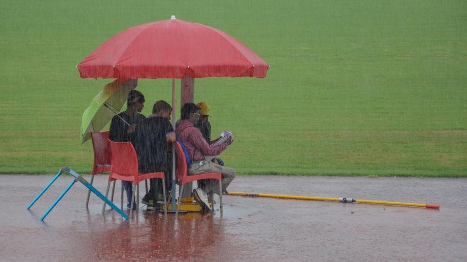 District Junior Athletics Championship was delayed due to heavy rain in Pune on Saturday, July 27, 2019.