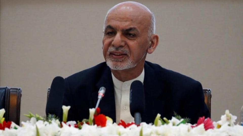 """""""Peace is coming, and the negotiations will take place,"""" Ghani said at a rally marking the start of two months of campaigning."""
