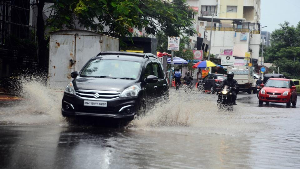 Heavy rains lashed the city on Saturday causing traffic congestions and waterlogging in different areas, including Mundhwa, Rasta peth, Sinhgad, Kharadi, Bibvewadi, Chinchwad, among others.