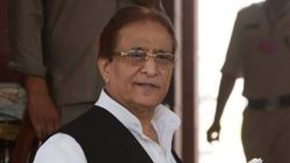 Samajwadi Party MP Azam Khan at Parliament after attending the budget session in New Delhi on Friday, July 19, 2019.