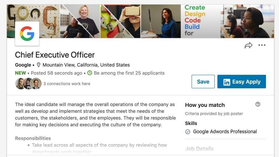 Google looking for CEO Sundar Pichai's replacement? Job posting surprises LinkedIn users