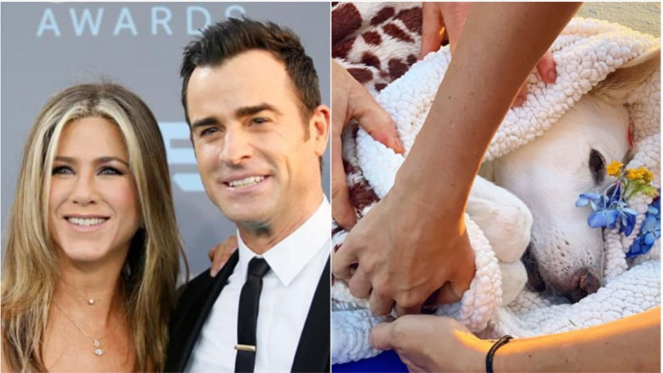 Jennifer Aniston and Justin Theroux were with Dolly in her final moments.
