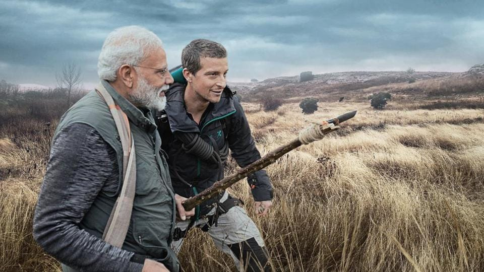 Prime Minister Narendra Modi features on Man vs Wild.