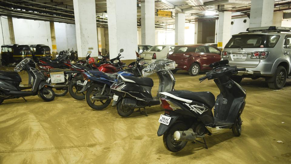 BMC free parking lot at Oshiwara in Mumbai, on Saturday, July 27, 2019.