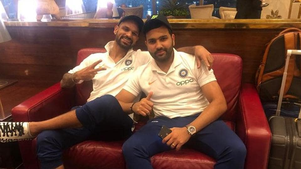 Shikhar Dhawan posts photograph with Rohit Sharma ahead of the team's departure for the West Indies tour.