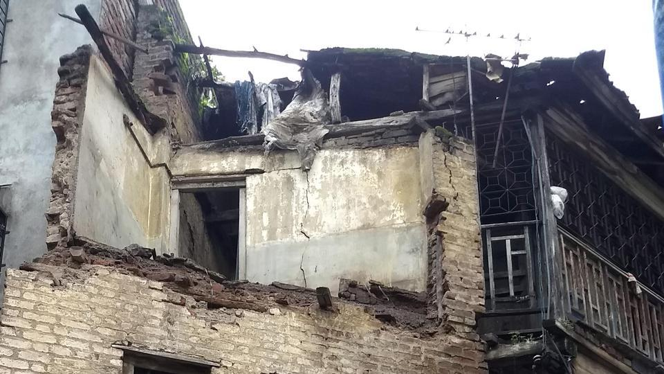 Wall collapse at Rastrabhushan chowk, Ghorpadi peth in Pune, India, on Monday, July 29, 2019.