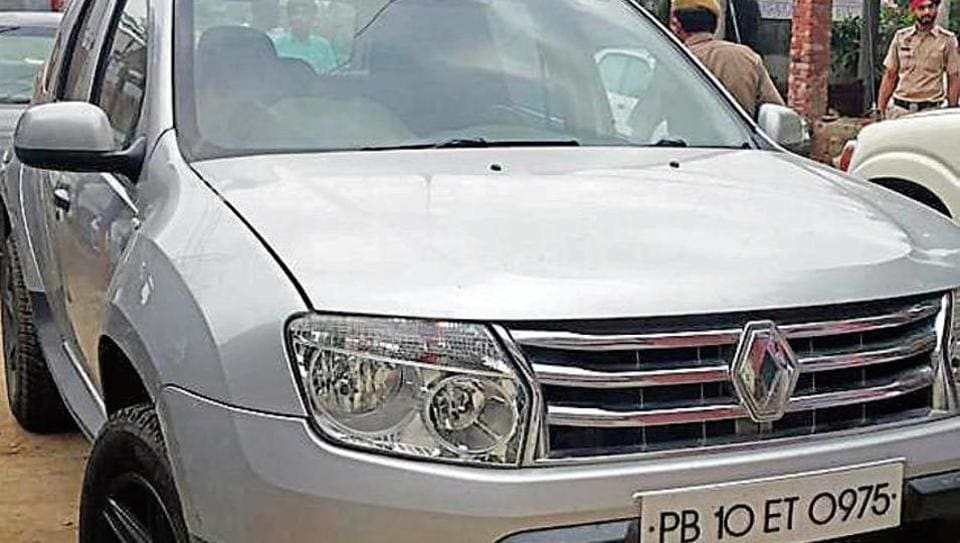 The Renault Duster in which the couple was travelling from Chandigarh to Ludhiana on the night of July 29, 2019.