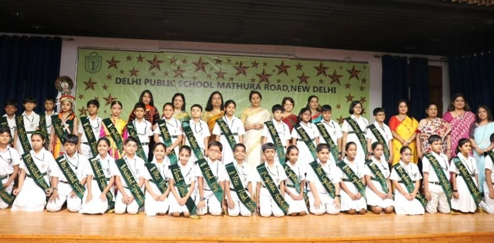 The investiture ceremony is the school's first step in imparting leadership skills to students